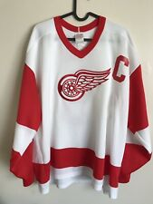Vintage 70's 80's Detroit Red Wings Gordie howe Hockey Jersey CCM Maska XL