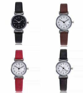 Ladies Watches Womens Small Quartz Analogue Wrist Watch Fashion Casual Leather