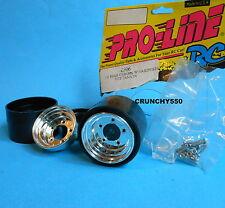 "Proline Rear Wheel Chrome 1.5"" Tamiya Hornet Frog SRB 2506 Mugen 100-R RC Parts"