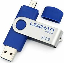 Clé USB 32 GO 2 en 1 Micro Usb Dual Drive Pour Android Smartphones Tablette PCs.