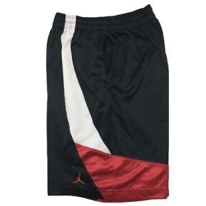 Nike Air Jordan Men's Medium Black Red Basketball Shorts 416211