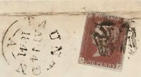 """1840 Penny Red on Wrapper Spec AS74 Plate 11 (SF) """"Taunton"""" Maltese Cross  FUesd"""