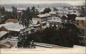 Kingston Harbour Jamaica From the Harbour St. c1910 Postcard