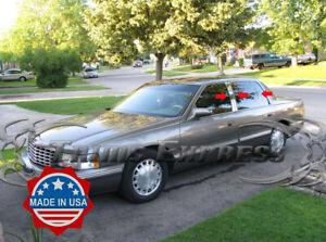 1997-1999 Cadillac DeVille 6Pc Chrome Pillar Post Stainless Steel Trim