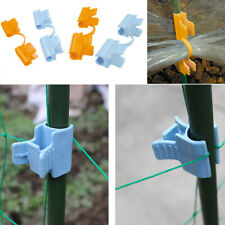 10X Jardin Serre Film Cover Support Rod Clamps Parasol Net Fixation Clip Sal