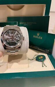 New Unworn Rolex Datejust 41 126300 'Wimbledon' Smooth Bezel With AD Receipt