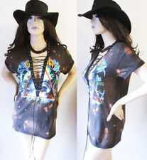 Def Leppard lace up shirts  Bleached S-XL