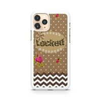 Locked Quote Polka Dots Chevrons Pattern Lush Flowers Floral Phone Case Cover