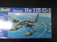 Heinkel He - 115 , C-1, Wasserflugzeug, Revell, Scale:1/72, Kit: 4342, Selten!