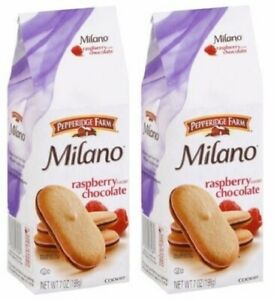 Pepperidge Farm Milano Raspberry Chocolate Cookies 2 Bag Pack