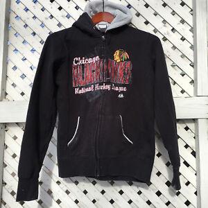 Chicago Blackhawks Full Zip Hooded Jacket Adult Medium 60% Cotton 40% Polyester