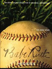 Barry Halper Collection of Baseball Memorabilia: The Early Years Paperback - NEW