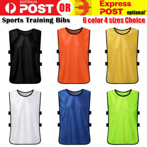 Sports TRAINING BIBS Vests Basketball cricket soccer football rugby mesh 4 SIZES