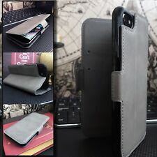 2121™   Latest Low Profile  Real Leather Wallet  Case GREY For HUAWEI P30 PRO