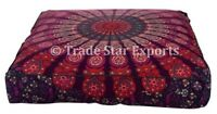 Large Mandala Square Cushion Cover Handmade Decorative Meditation Pillow Case