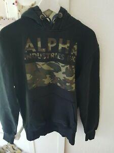 Alpha Industries Pullover Hoodie Gr M Schwarz Camouflage