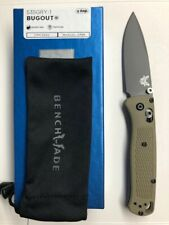 NEW BENCHMADE 535GRY-1 BUGOUT CPM-S30V PLAIN EDGE GRAY COATED BLADE KNIFE