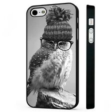 Cute Owl Funny BLACK PHONE CASE COVER fits iPHONE