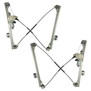 Power Window Regulator Set fits GMC Cadillac Chevy Pickup SUV Front Pair w/Motor