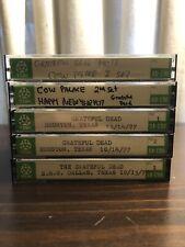 Grateful Dead Live Cassette Tapes Lot Of 5 - 70's 1977 Shows NYE Texas