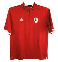 Adidas Climalite Men's Small IU Indiana University Red White Quarter Zip