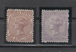 6939/ BRITISH JAMAICA – VICTORIA - SG # 14 / 15 MINT – CV 320 $