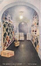 WINDSOR LONDON UK QUEENS DOLL HOUSE~WINE CELLAR~TUCK SERIES 1 POSTCARD
