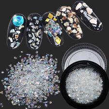Crystal White AB Unregelmäßige Kristall Nail Art Strass Glitzer Dekorationen