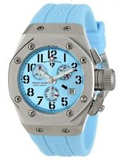Swiss Legend 10535-012 Women's Trimix Diver Chronograph Watch Blue New in Box!