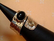 Antique Design - exclusiver Onyx Ring - Sterling Silber - 925 - Cabochon Schliff