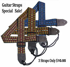 Hootenanny Tapestry Hippie Guitar Straps Special SALE 3 STRAPS ONLY $10.95