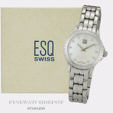 Authentic Ladies ESQ Swiss Stainless Steel Luxe MOP Watch 07101250