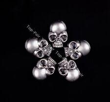 15X21MM 20pcs Rock Antique Silver Big Skull Conchos Rivet Stud For Leathercraft
