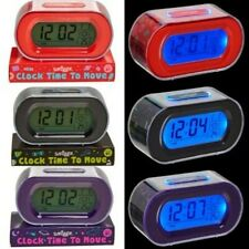 Smiggle Pop Time To Move Clock Black Purple Coral