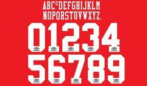 1992-1996 Umbro White Flock Football Nameset 4 shirt Choose Your Name & Number