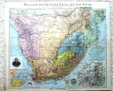 Politish-militarische Karte von Süd-Afrika South Africa military  map 1899