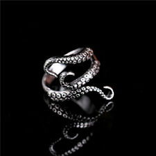 Octopus Tentacle Ring Pirate Nautical Steampunk Gothic Open Adjustable Silver UK