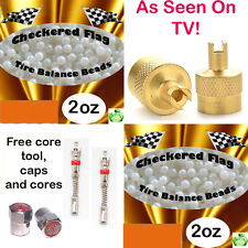 Motorcycle Tire Balance Beads, Ceramic Dynamic Balancing 4oz kit + Free Offer