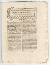 1764, nov.3, interesting GAZETTE DU COMMERCE with commodity prices, and Shares