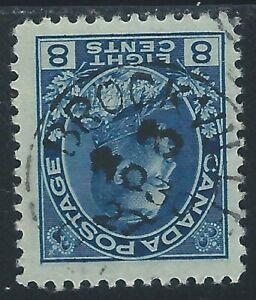 Canada #115(2) 1925 8 cent blue KING GEORGE V BROCKVILLE ONTARIO CV$15.00