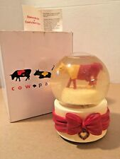Cow Parade Diamonds are a Cow's Best Friend Musical Snow Globe No. 9116