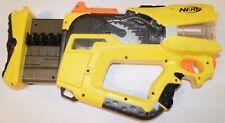 NERF Firefly Rev-8 N-Strike Gun With Light Flashing Barrel Yellow Black Working