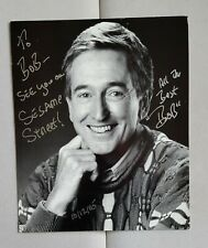 hand signed Bob McGrath B&W photo autographed 6 3/4 x 8 1/4 Sesame Street tv