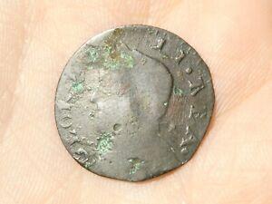 1732 GEORGE II REA  Contemporary Counterfeit Evasion Halfpenny 1.2grams  #R105