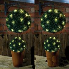 LED Solar Powered Topiary Ball Garden Light Hanging Lamp Cafe Bar Outdoor New