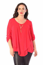 3/4 Sleeve Plus Size Tops & Blouses for Women