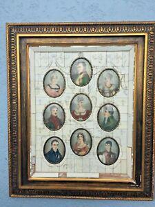 9 Framed 19th C Signed Miniature Portrait Paintings Plaque Napoleonic Sothebys