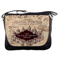 Harry Potter THE MARAUDERS MAP Messenger School College Band Metal Emo Bag
