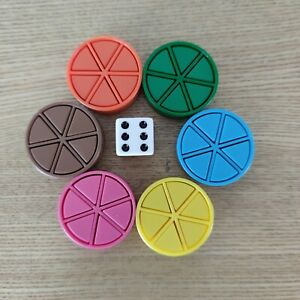 TRIVIAL PURSUIT replacement spares full set of wedges/cheeses/dice board game