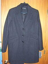 """Womens """"FLEET STREET"""" charcoal twill wool blend dress coat size XL NWT $220.00"""